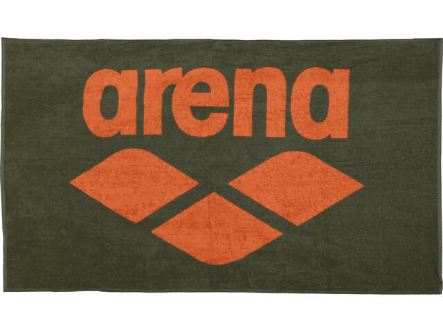 arena Pool Soft Toalla, army-tangerine